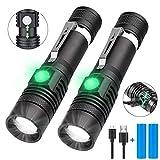 Taschenlampe LED USB Aufladbar, Karrong Zoom Taschenlampen 4 Modi für Outdoor Camping