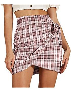Sannysis Faldas Para Mujer Verano Elástica Plisada Básica Patinador Color  puro Multifuncional Casual Corto Falda… EUR 9 23d521799406