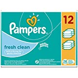 Pampers - Fresh Clean - Lingettes Bébé - Lot de 12 Paquets (x768 Lingettes)
