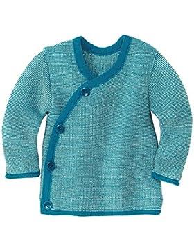 Disana 32502XX - Melange-Jacke Wolle blau