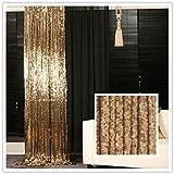 trlyc 120cm*210cm schimmernden Glanz Pailletten Stoff Fotografie Hintergrund für Hochzeit auf Verkauf Farben sind erhältlich, Sonstige, Gold, 4ft*7ft sequin backdrop
