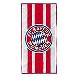 FC Bayern Badetuch Frottier rot