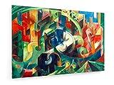 Franz Marc - Kühe (Malerei mit Kühen I) - Malerei 1913-30x20 cm - Leinwandbild auf Keilrahmen - Wand-Bild - Kunst, Gemälde, Foto, Bild auf Leinwand - Alte Meister/Museum