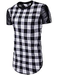 Hombres Camiseta,Sonnena ������Camiseta de Verano para Hombres La Rejilla Tops con Cremallera Lateral Slim Camiseta…