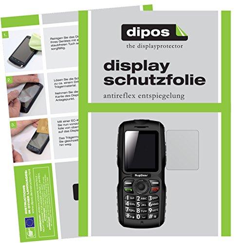 dipos I 2X Schutzfolie matt passend für RugGear RG100 Folie Bildschirmschutzfolie