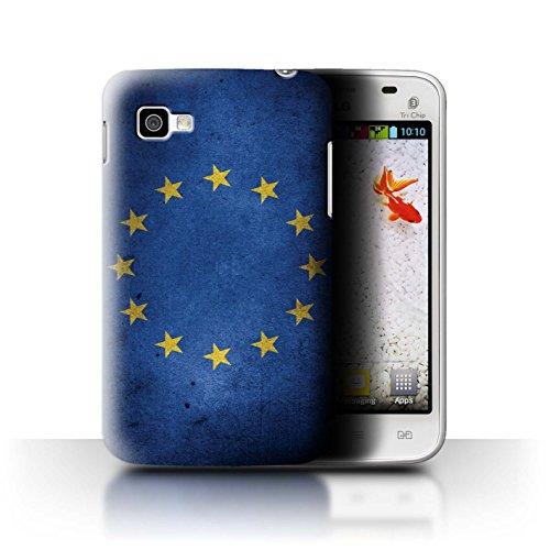 Stuff4® Hülle/Case für LG Optimus L4 II Tri/E740 / EU Flagge Muster/Großbritannien/Britischer Stolz Kollektion