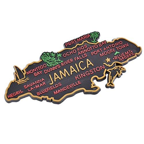 gnet Pinnwandmagnet Magnettafel Jamaika Landkarte Farbig Deko ()
