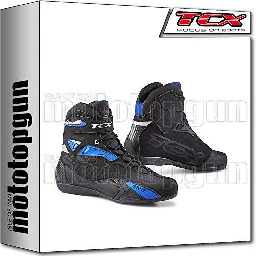 TCX Scarpe Stivali Moto 9505 Rush Nero Blu tg 42/8,5