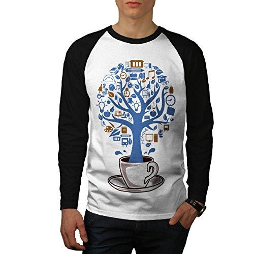 Baum Natur Tasse Leben Essen Herren S Baseball lange Ärmel T-Shirt | Wellcoda (Baseball Bekam)