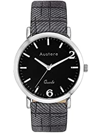 Austere Oxford Analogue Black Dial Men's Watch (MOX-0202)