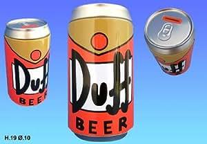 Tirelire CANETTE de bière GEANTE DUFF BEER 20cm Homer Simpson