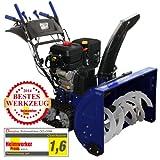 Denqbar Profi Schneefräse mit 11 kW (15 PS) Benzinmotor mit E-Start, Raupenantrieb, Handwärmer und Licht, Räumbreite 760 mm