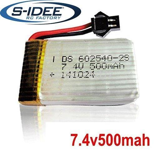 s-idee® 01206 | 1 x 7,4V 500 mAh Akku für Quadrocopter s-idee 01251 S183C Quadro mit HD Kamera