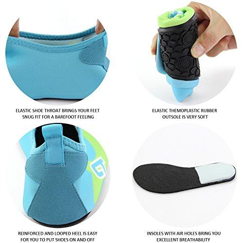 DrCosy Kiner Wasserschuhe Unisex Aqua Shoes für Strand Schwimmen Surf Yoga Himmel Blau