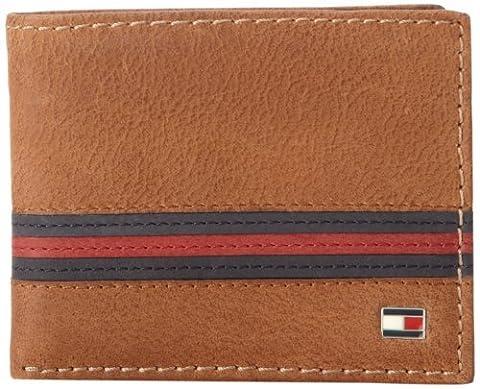 Tommy Hilfiger Herren-Brieftasche/-Etui/-Portemonnaie aus Leder Gr. Einheitsgröße, braun