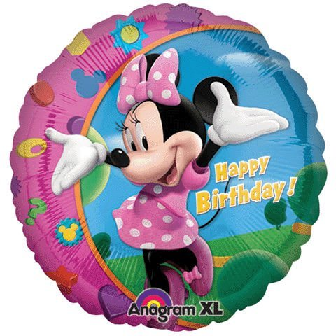 Minnie Mouse Happy Birthday 46cm Foil Balloon