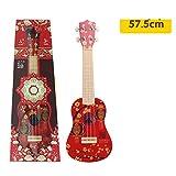 Mzl Kinder eine Zeichenfolge Vier Gitarre-Simulation, die rote Spielzeug im chinesischen Stil Gabe 6-14 Jahre alt Gilt
