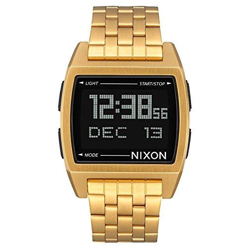Nixon Herren Digital Uhr mit Edelstahl Armband A1107-502-00