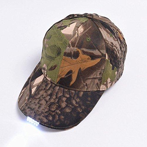 Sogar luce unisex LED del cappello di baseball facilmente regolabile / One Size Fits All Hip-hop Sport Cap per caccia pesca e camminare, camuffamento