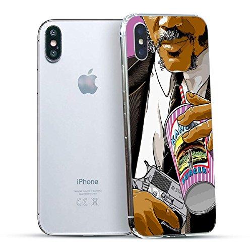 finoo | Iphone X Hard Case Handy-Hülle mit Motiv | dünne stoßfeste Schutz-Cover Tasche in Premium Qualität | Premium Case für Dein Smartphone| Elefant Line Art Big Kahuna Burger
