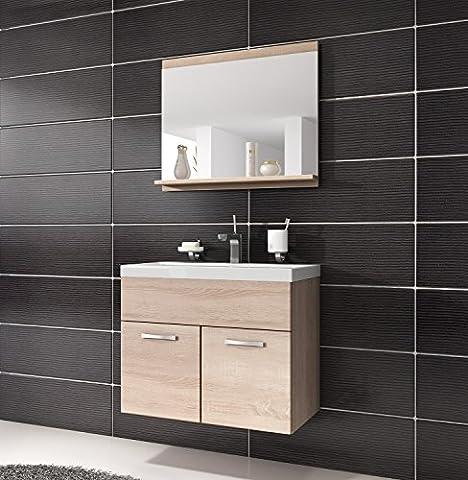 Bathroom cabinet Montreal 02 60cm basin sonoma oak - Storage cabinet vanity unit sink furniture