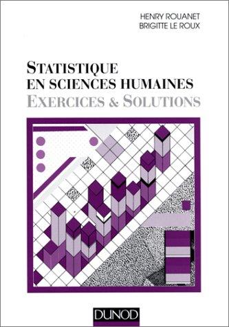 STATISTIQUE EN SCIENCES HUMAINES