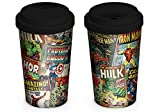 Marvel Retro MGT23763 Mug de Voyage, Céramique, Multicolor, 340 ML / 12 oz