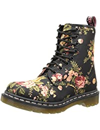 Dr. Martens 1460 Victorian Flowers BLACK, Damen Bootsschuhe