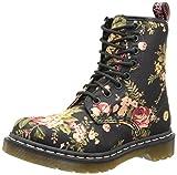 Dr. Martens 1460 Victorian Flowers BLACK, Damen Combat Boots, Schwarz (Black), 36 EU (3 Damen UK)