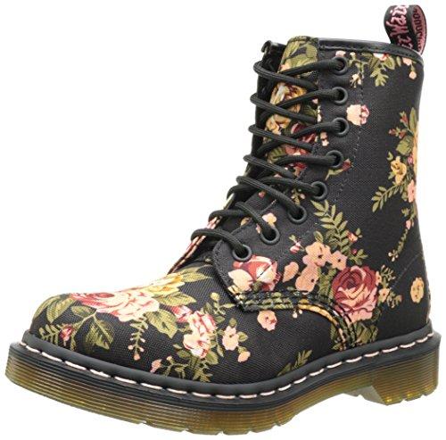 Dr. Martens 1460 Victorian Flowers BLACK, Damen Bootsschuhe Test