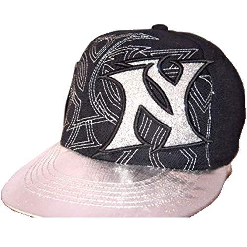KB Ethos NY Dizzy PAC, Drap Plat Peaks Hiphop Bling Bonnet de baseball unisexe