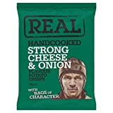 Real Handcooked Strong cheese & Onion 24x35g