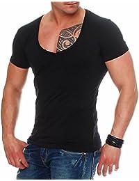 Young & Rich 1315col en V T-shirt manches courtes col en V slim fit Loisirs