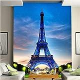 Qbbes Mural Personalizado Papel De Pared Edificio De La Ciudad Clásica Torre Eiffel Sala De Estar Entrada Foto Fondo Papel Tapiz No Tejido Decoración Para El Hogar-280X200Cm