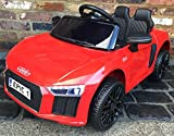 Picture Of Licensed Kids R8 Spyder Style Roadster Sports Car with Remote Control 12v Electric / Battery Ride on Car - Red