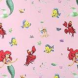 Fabulous Fabrics Disney Arielle Baumwollstoff 2 rosa -