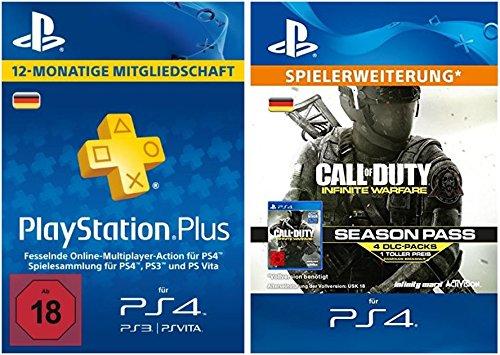 PS Plus Mitgliedschaft 12 Monate + Call of Duty: Infinite Warfare Season Pass [PS4 Download Code - deutsches Konto]