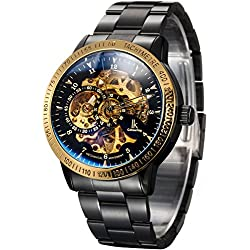 Alienwork IK Automatic Watch Self-winding Skeleton Mechanical Stainless Steel black black 98226-20