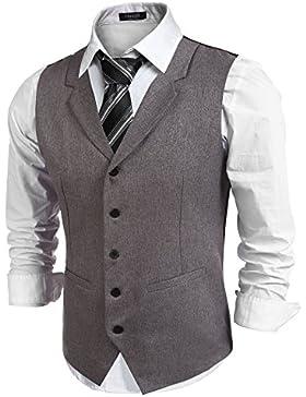 hasuit Hombres la parte superior diseñado Casual ajuste Regular, fiesta de la moda vestido chaleco chaleco
