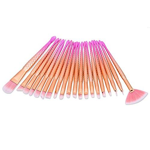 p Eye Bürsten Set 20 Stück Professionelle Bunte Lidschatten Pinsel Augen Kosmetik Pinsel Essential Eye Brush Set (B) (Professionelle Uniformen)