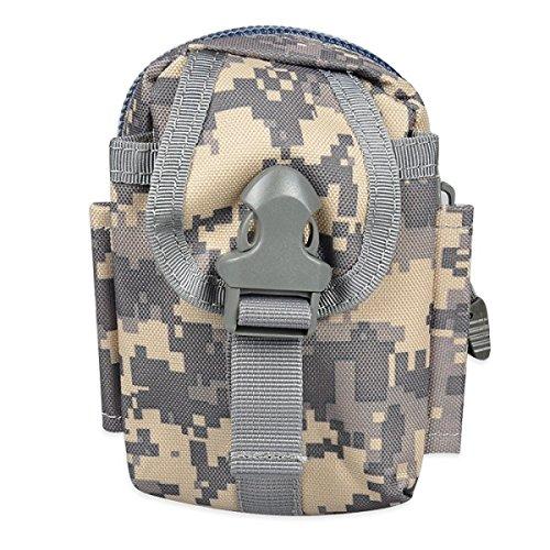 Solon Multi Functional Tactical Gürteltasche Outdoor Survival Molle System Kettle Runde Tasche für Sports Camping Tarnung 2