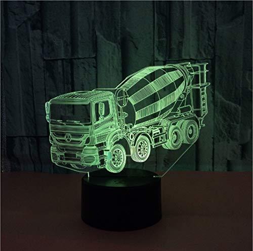 Tywwan 3D Lampe Mixer Nachtlicht Kinder Illusion Stimmungslicht Fernbedienung Nachttischlampe 7 Farben Ändern Touch Switch Schreibtisch Lampen