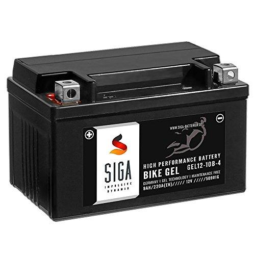 SIGA Bike Gel YTZ10-S Motorrad Batterie 12V 9Ah 220A/EN GEL12-10B-4, YT10B-4, GTZ10-4, TTZ10S-4