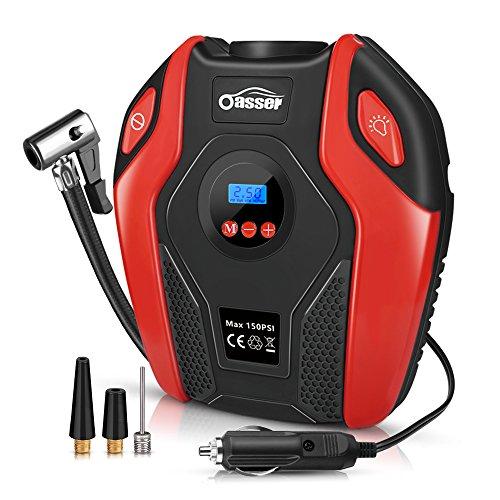 oasser Compressore Aria Portatile Auto, Mini Pompa Elettrica Ricaricabile P6 (P6)