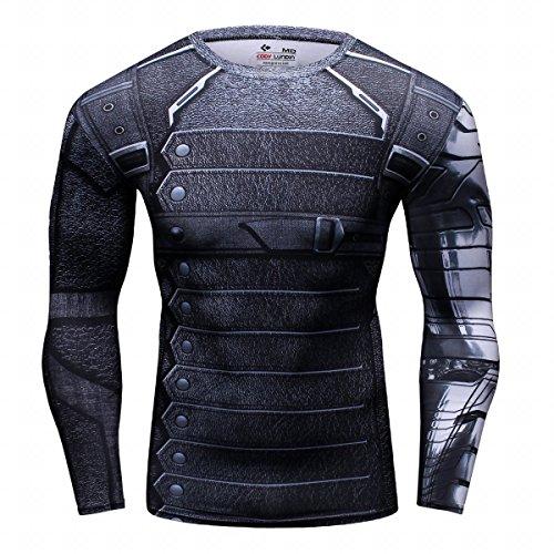 Cody Lundin Mode Sport à manches longues de Superhero Movie caractères parti chemise extérieure mâle masculine (Soldat, L)