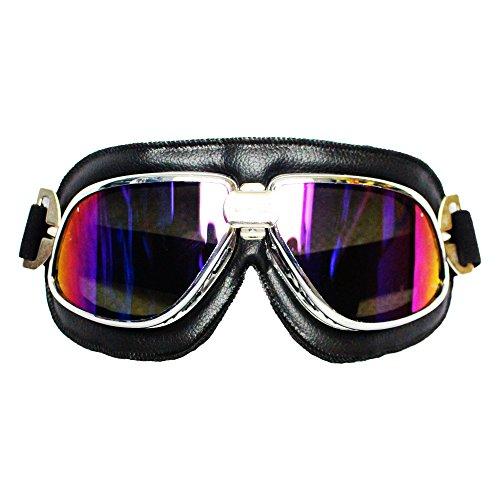 Future Shield Vintage Klassische Schutzbrille, Motorradbrille, Fliegerbrille, Sonnenschutz, UV-Schutz vor Wind, Schutz vor Staub, Radfahren