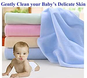 carter's Set of 6 Baby Small Soft Napkins for Cleaning your Baby - Soft and Gentle on your Baby's Delicate Skin (9 x 9 INCH)