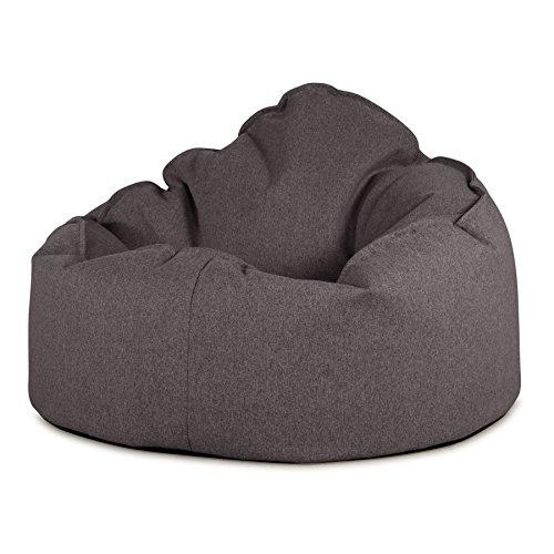 Lounge Pug®, Puff Pera 'Mini-Mamut', Lana de Interalli - Gris