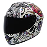 NZI Must II Graphics Casco De Moto(Mexican Skulls,Medio)