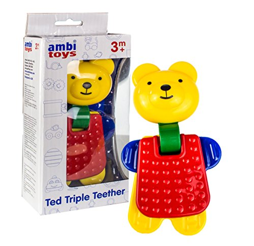 Ambi Toys Ted Triple Teether Toy